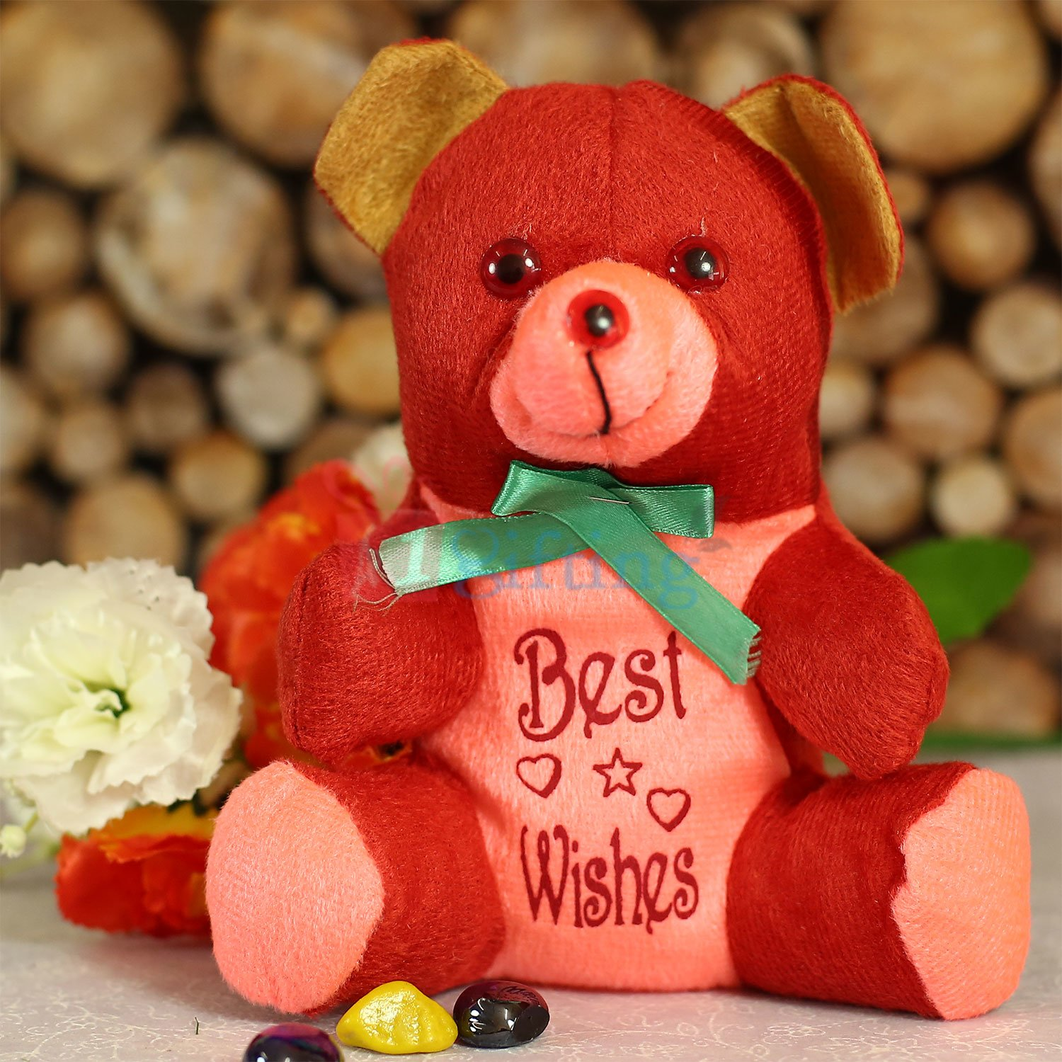 Best Wishes Bow Teddy Bear