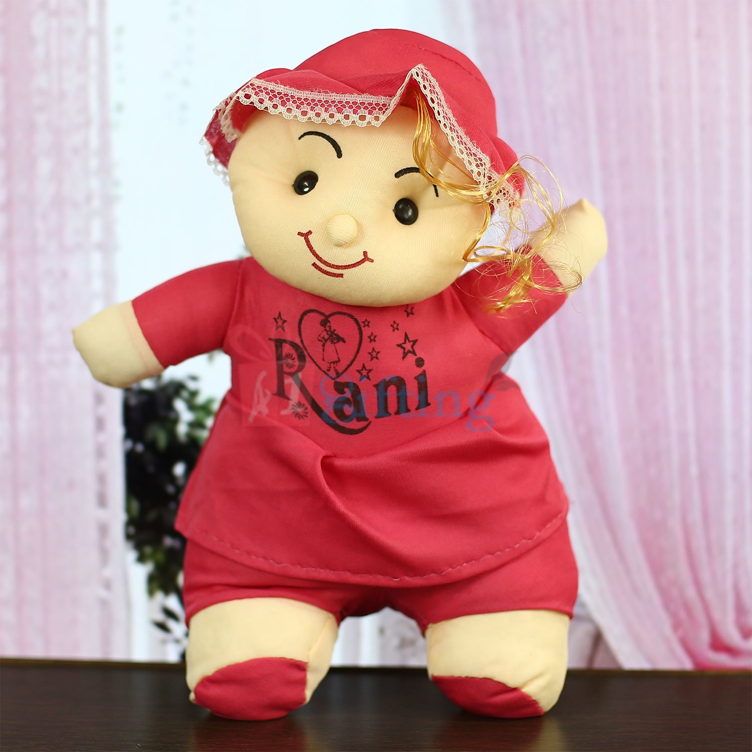 Smiling Rani Soft Toy with Cap