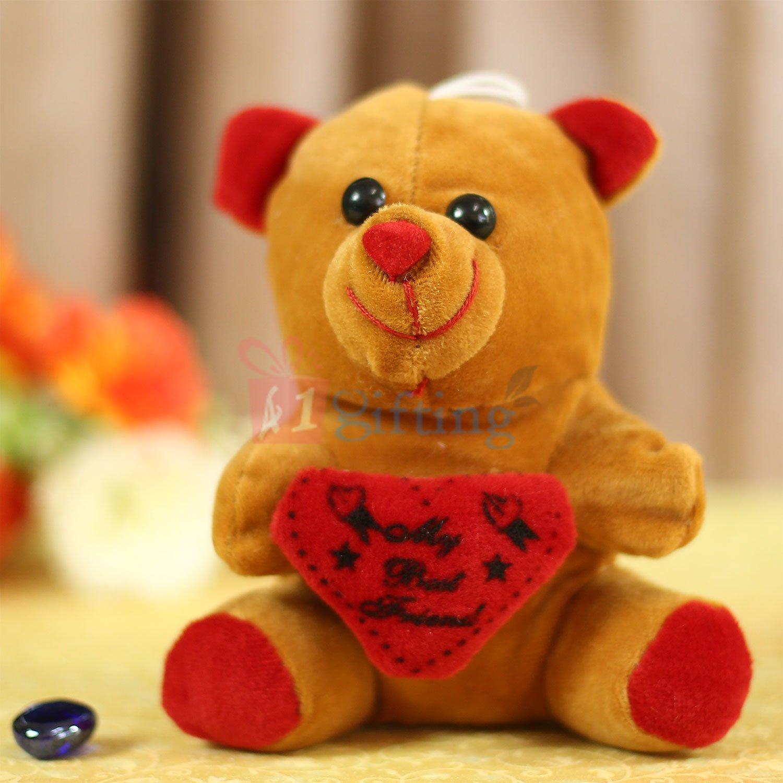 Dark Brown Heart Teddy Soft Toy