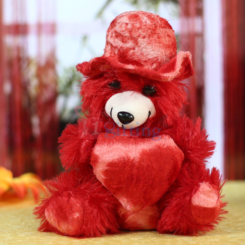 Fur Cap Weared Lovely Teddy Bear Soft Toy