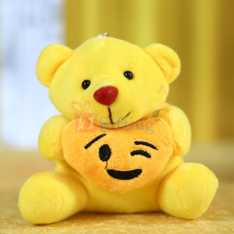 Lovely Smiley Teddy Bear Key Chain Soft Toy