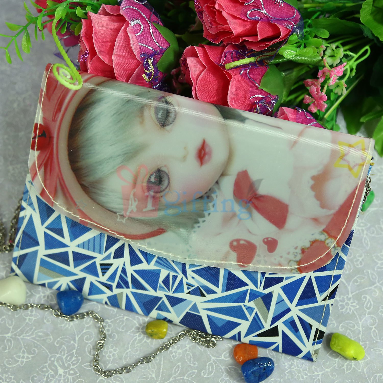 Designer Blue Theme 3D Clutches for Her