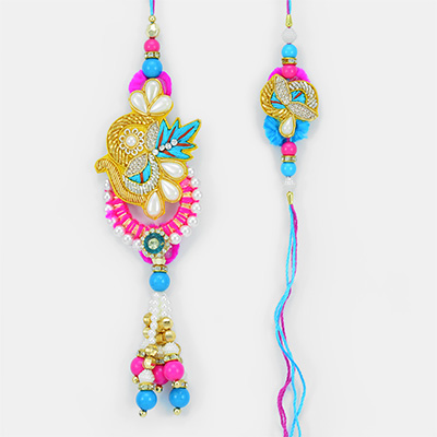 Zest of Jaipur- Kangan Style Lumba and Rakhi for Brother Combo
