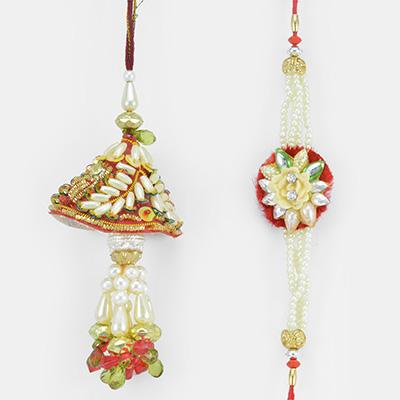 Perfect Combo of Beads and Pearl Rakhi Set