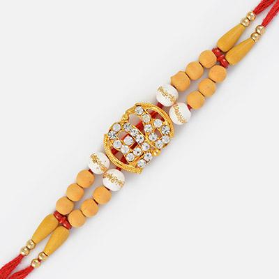 New Studded Diamond Onkar Sikh Rakhi