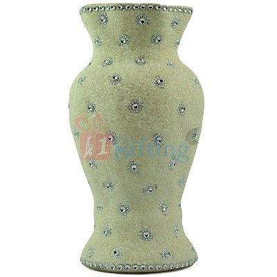 White Diamond Studded Flower Pot