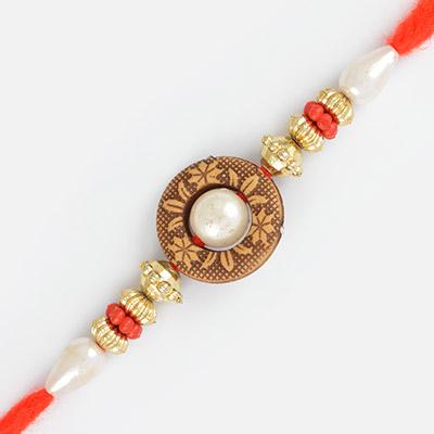 Simply Elegant Pearl and Ring Rakhi
