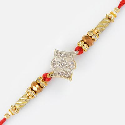 Silver and Golden color Design Fancy Rakhi