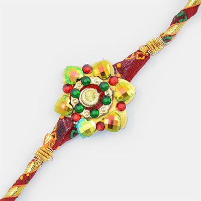 Glorious Floral Design Fancy Rakhi for Brother