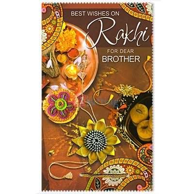 Best Wishes on Rakhi for Dear Brother Greeting Card