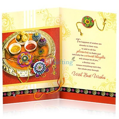 Traditional Rakhi Greeting Card for Your Brother