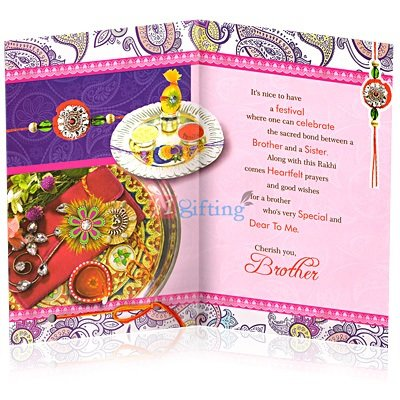 Rakhi Greetings Card for Brother by Sister Sacred Bond of Love