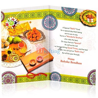 A Loving Wish Rakhi Greeting Card for Brother