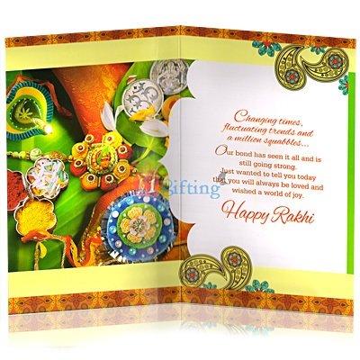 Special Rakhi Greeting Card for Brother on Rakhi Festival