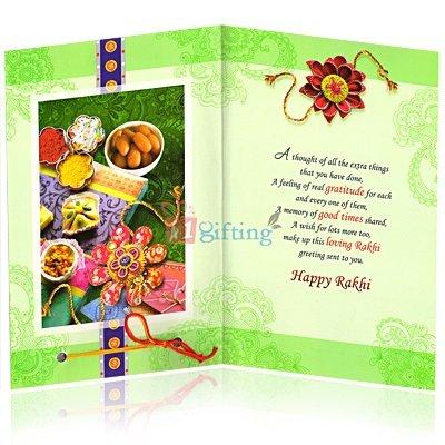 A Memory of Good Times Shared Rakhi Greeting Card