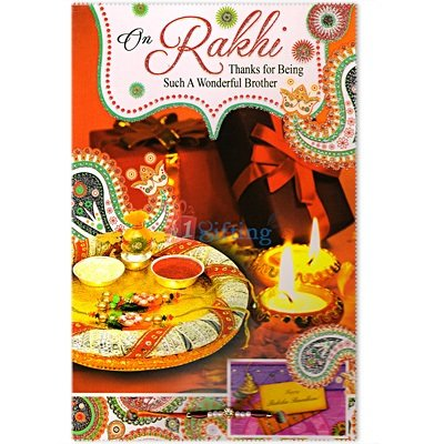 On Rakhi Thanks for Being a Wonderful Brother Greeting Card