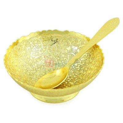 One Royal Bowl 4 Inch Designer Golden Plated