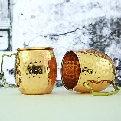 Super Pure Copper Hammered Mug
