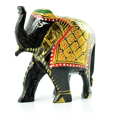 Wooden Painted Decorative Handicraft Elephant
