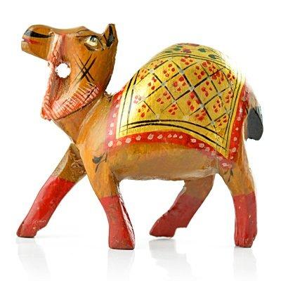 Painted Handicraft Camel in Wooden