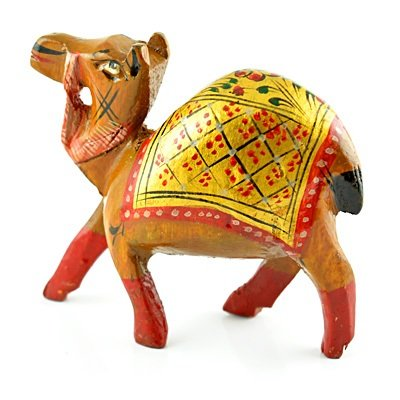 Painted Handicraft Camel in Wooden