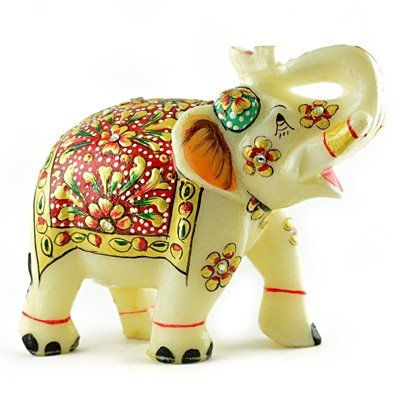 Excellent Handicraft Marble Elephant-6 inches