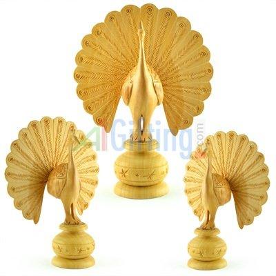 Handicraft Carwin Peacock Set of 3 Pcs