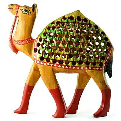 Beautiful Painted Camel with Latticed-Jalidar Handicraft