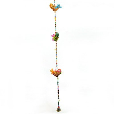 Long Rope Handcrafted Birds Door Hanging