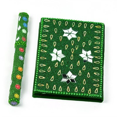 Handicraft Lacquer Work Diary with Pen