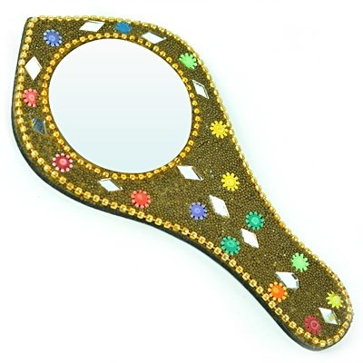 Mirror with Handle Designer Hand Crafted