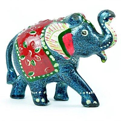 Handicraft Elephant Set of 3 Colorful