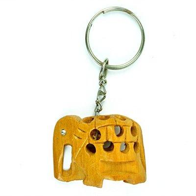 Latticed Elephant Key Chain