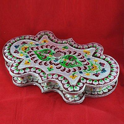 Designer Handicraft Silver Color Dry fruit box