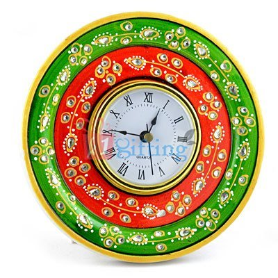 6 Inch Frame Table Marble Clock