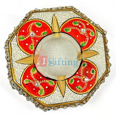 Octagonal Marble Painted Designer Ash Tray