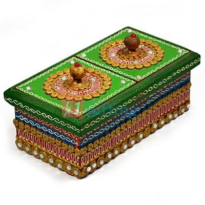 Wooden Handmade Designer Dry fruit Serving Box