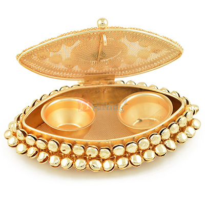 Beautiful Boat Shape Roli Chawal Box