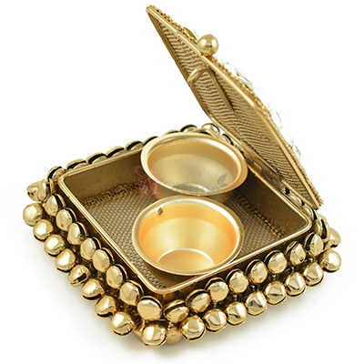 Antique Look Square Roli Chawal Box