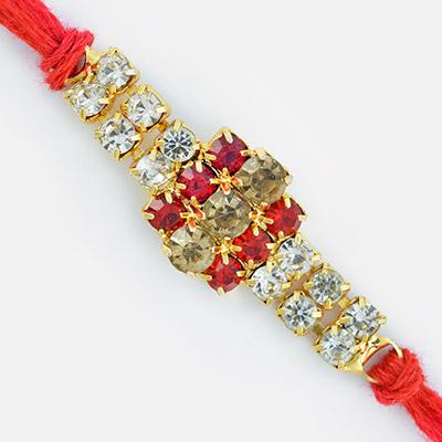 Diamond Fantacy- Attractive Ethnic Designer Diamond Rakhi