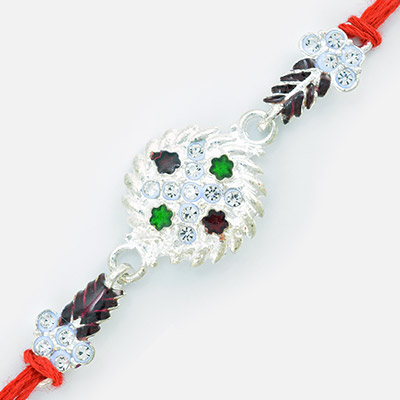 Glittering Premium Diamond Rakhi for Brother
