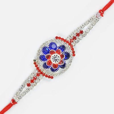 Jewel Floral and White Diamond Beautiful Rakhi