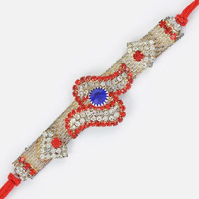 Diamond and Jewel Uniquely Design Beautiful Rakhi