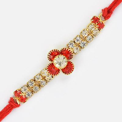 Premium Diamond and Multi Color Jewel Rakhi