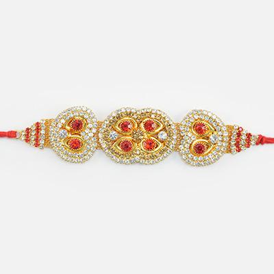 Marvelous and Magnificent Looking Antique Design Elegant Rakhi