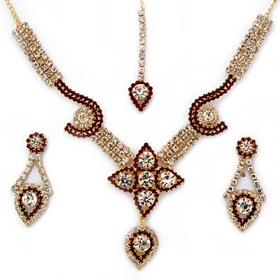 Centrally Flower Golden Fashion Jewelry Set