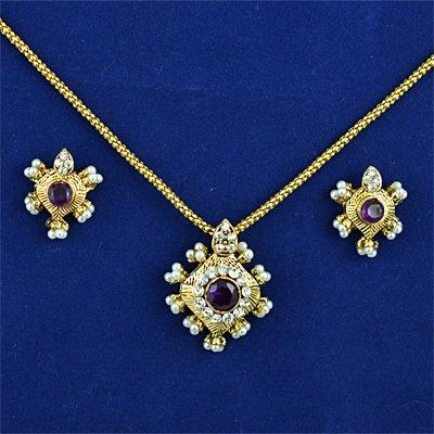 Chain Locket Earing Jewellery Set