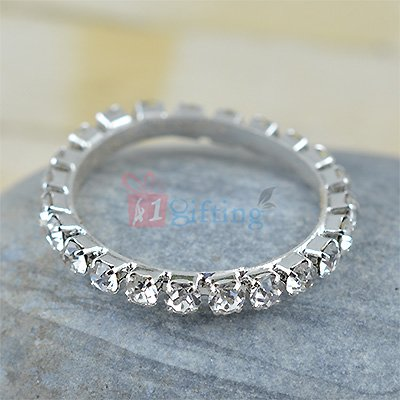 Awesome White Diamond Party Ring