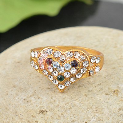 Heart Shape Diamond Party Ring