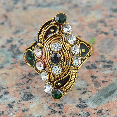 Fancy Work Meena Diamond Ring